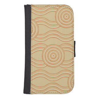 Aboriginal art sandstone samsung s4 wallet case