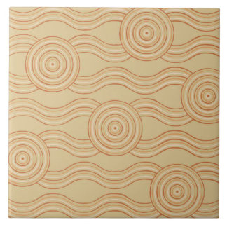 Aboriginal art sandstone tile