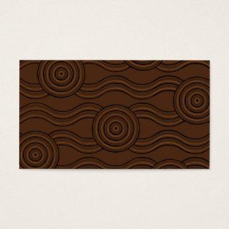 Aboriginal art soil business card
