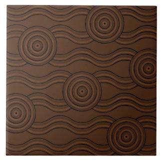 Aboriginal art soil ceramic tile