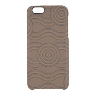 Aboriginal art soil clear iPhone 6/6S case