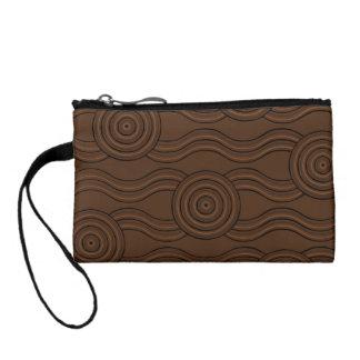 Aboriginal art soil coin purse