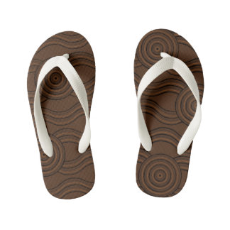 Aboriginal art soil kid's flip flops