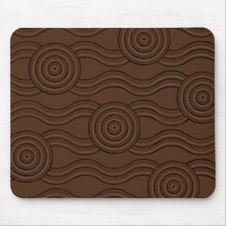 Aboriginal art soil mouse pad