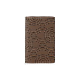 Aboriginal art soil pocket moleskine notebook