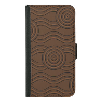 Aboriginal art soil samsung galaxy s5 wallet case
