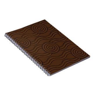 Aboriginal art soil spiral notebook