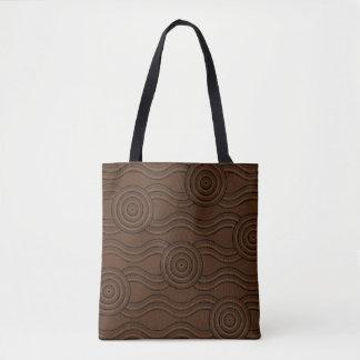 Aboriginal art soil tote bag