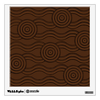 Aboriginal art soil wall decal