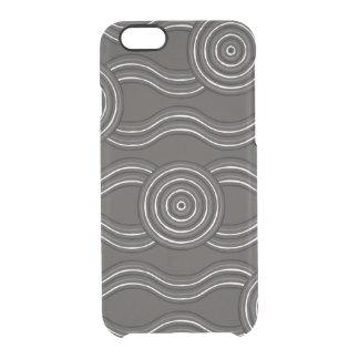 Aboriginal art storm clear iPhone 6/6S case