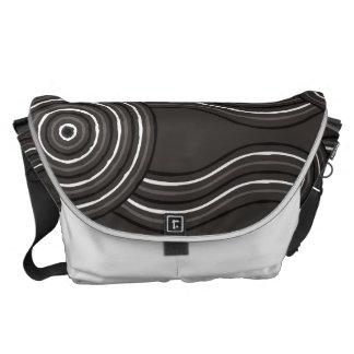 Aboriginal art storm commuter bag