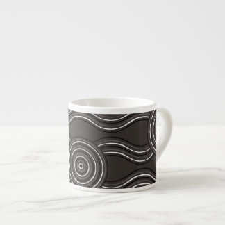 Aboriginal art storm espresso cup