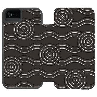 Aboriginal art storm incipio watson™ iPhone 5 wallet case