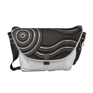 Aboriginal art storm messenger bags