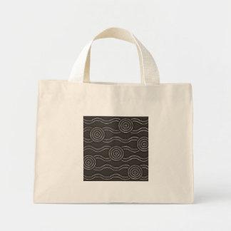 Aboriginal art storm mini tote bag
