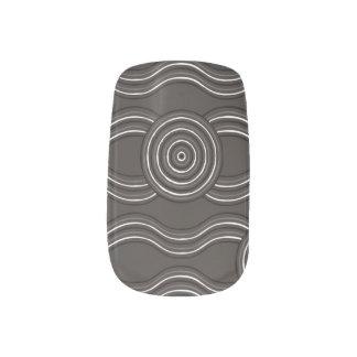 Aboriginal art storm minx nail art