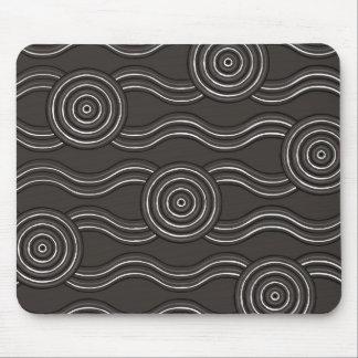 Aboriginal art storm mouse pad