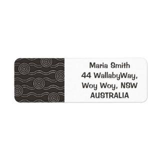 Aboriginal art storm return address label