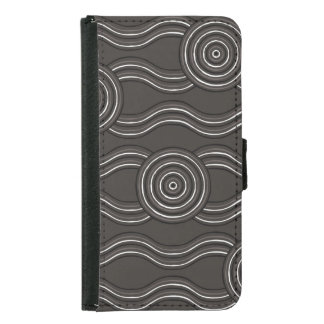 Aboriginal art storm samsung galaxy s5 wallet case