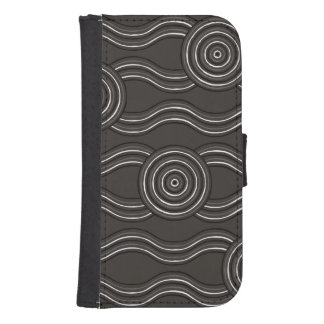 Aboriginal art storm samsung s4 wallet case