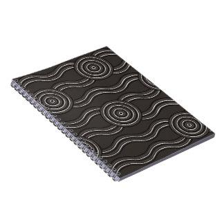 Aboriginal art storm spiral notebook