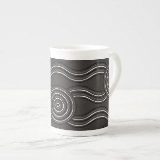 Aboriginal art storm tea cup