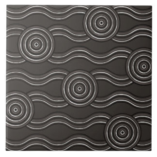 Aboriginal art storm tile