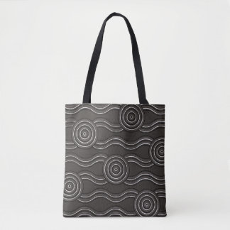 Aboriginal art storm tote bag