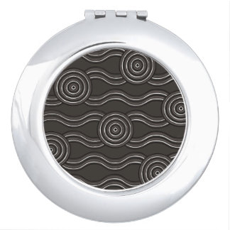 Aboriginal art storm vanity mirrors