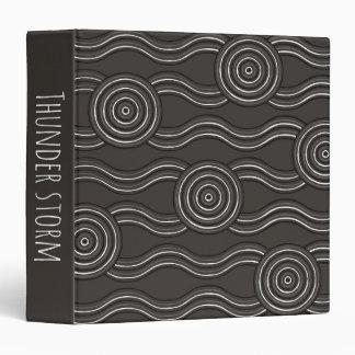 Aboriginal art storm vinyl binders