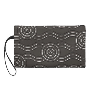 Aboriginal art storm wristlet purses