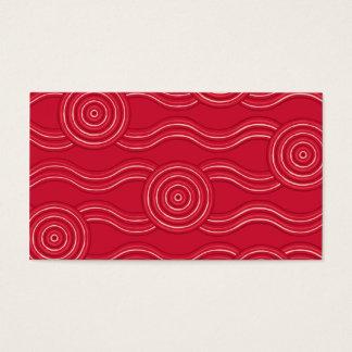 Aboriginal art waratah business card