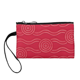 Aboriginal art waratah change purses