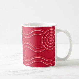 Aboriginal art waratah coffee mug