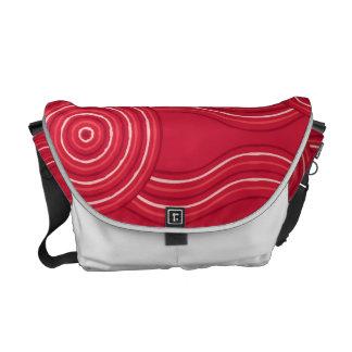 Aboriginal art waratah commuter bag