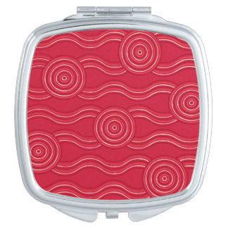 Aboriginal art waratah compact mirror