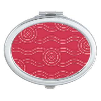 Aboriginal art waratah compact mirrors