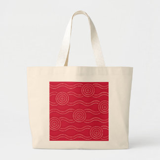 Aboriginal art waratah large tote bag