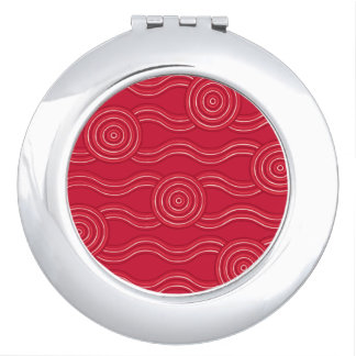 Aboriginal art waratah mirror for makeup