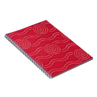 Aboriginal art waratah notebooks