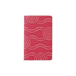 Aboriginal art waratah pocket moleskine notebook