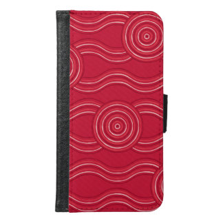 Aboriginal art waratah samsung galaxy s6 wallet case