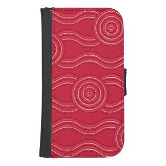 Aboriginal art waratah samsung s4 wallet case