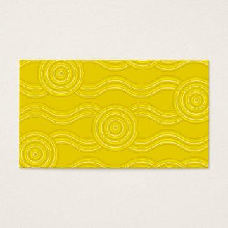 Aboriginal art wattle business card