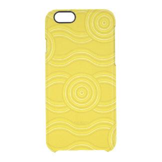 Aboriginal art wattle clear iPhone 6/6S case
