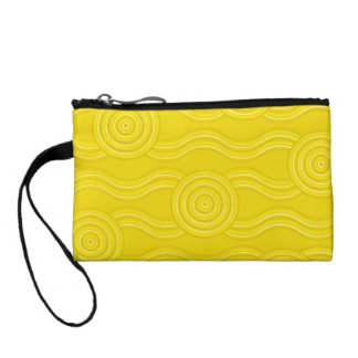 Aboriginal art wattle coin wallet