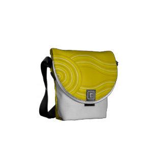 Aboriginal art wattle courier bag