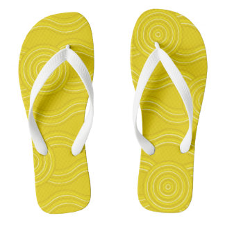 Aboriginal art wattle flip flops