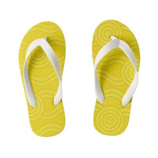 Aboriginal art wattle kid's flip flops