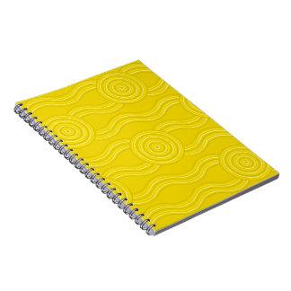 Aboriginal art wattle notebook